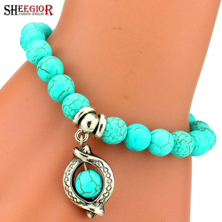 Charm Bracelet Ideas: Vintage Turquoise Bracelet