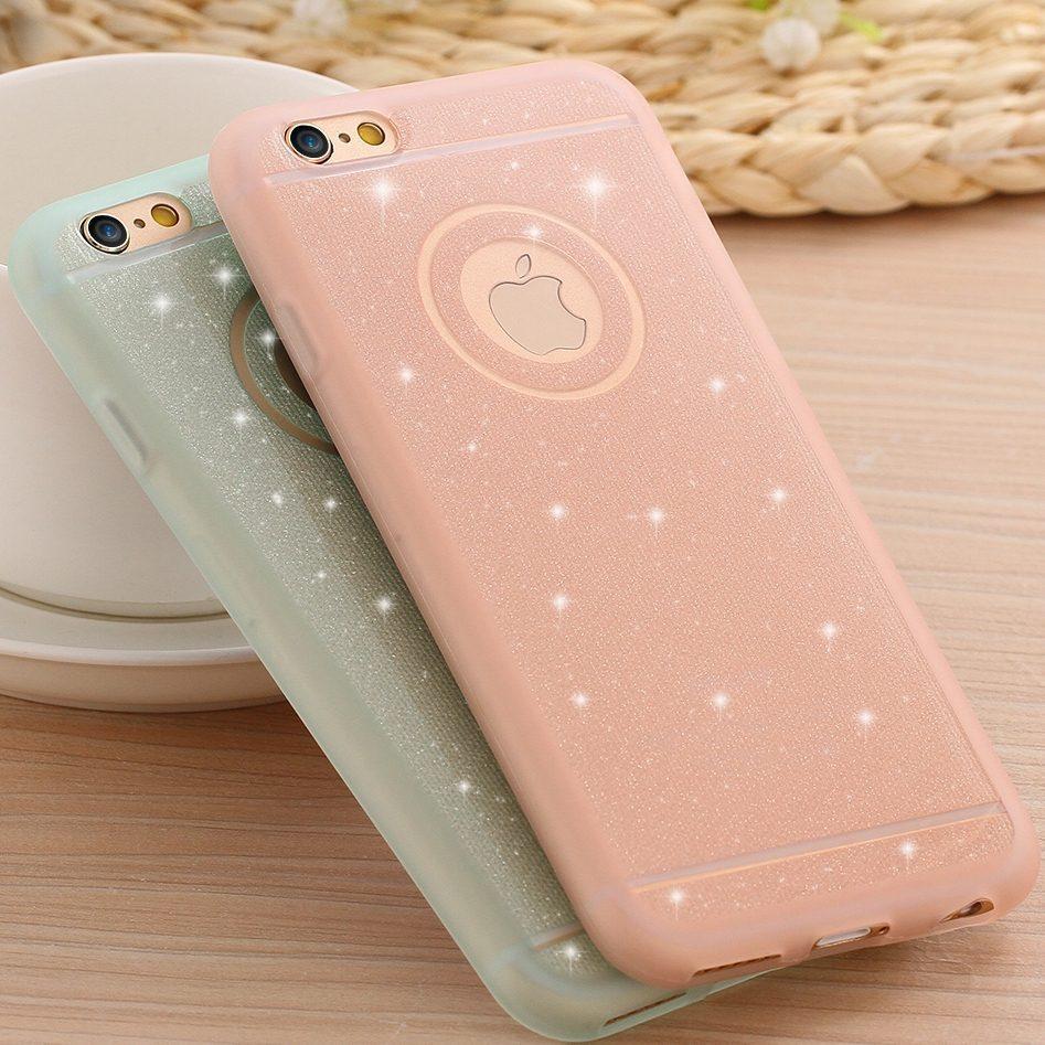 big sale 3fd9f 25acb Glitter Powder Silicone Case For iPhone 6/6s, 6plus/6splus