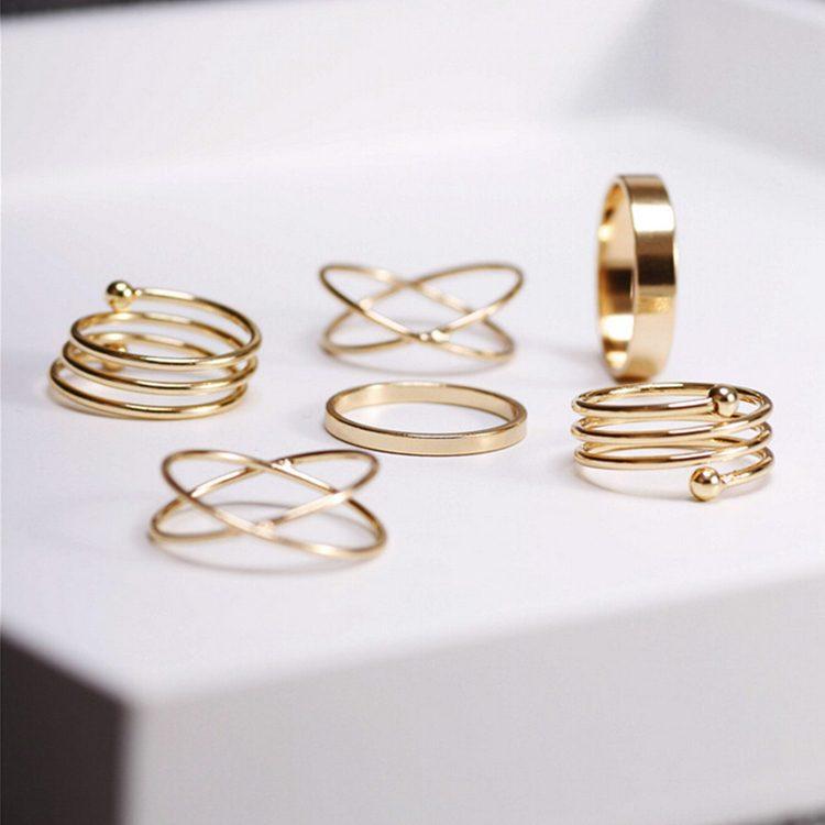 Unique Gold Punk Ring Set Best Selling TrendBaron