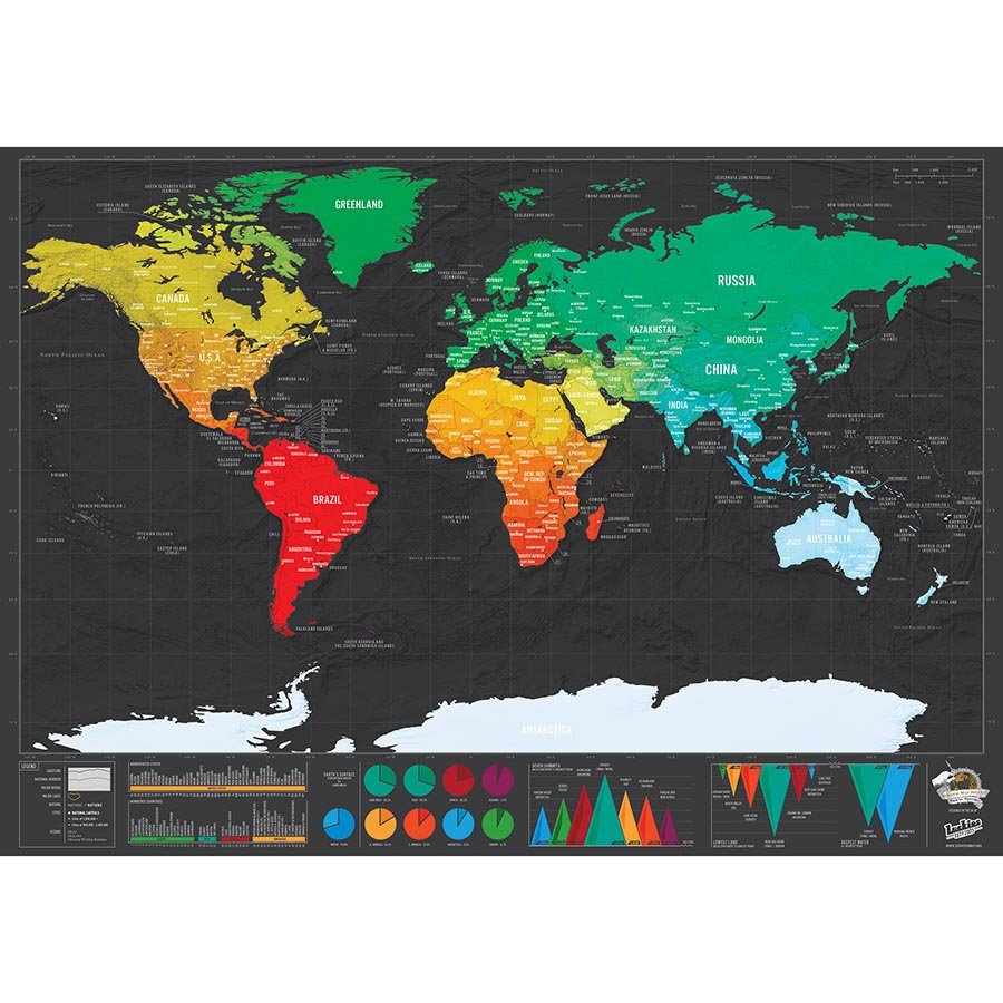 Deluxe world scratch map trendbaron gumiabroncs Image collections