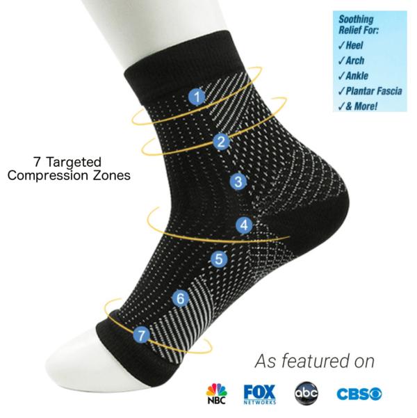best rated foot compression socks sleeves plantar fasciitis