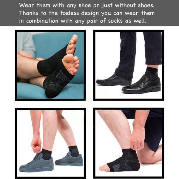 toeless pain relief socks