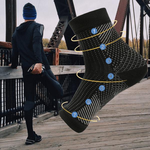 plantar fasciitis compression socks running performance