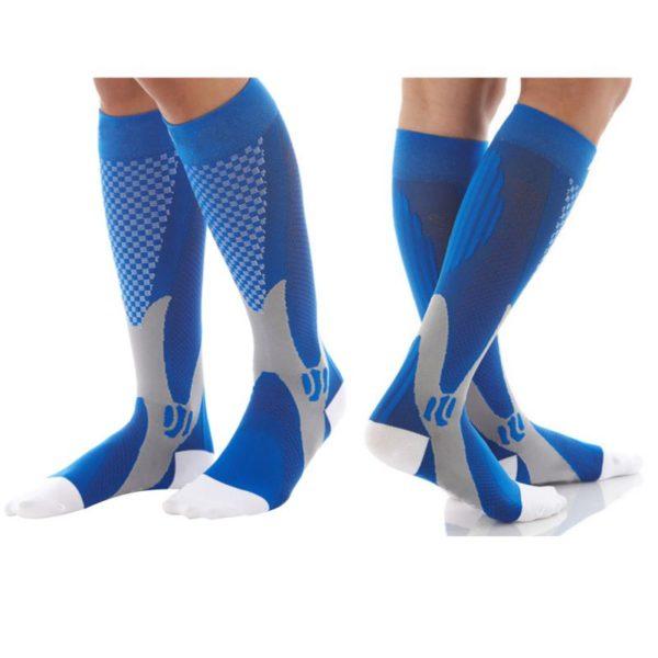 trendbaron professional graduated calf compression socks blue black pink white men and women