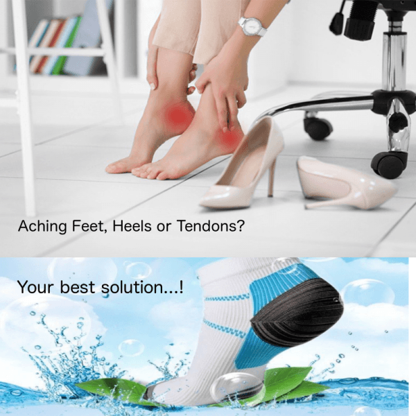heel ankle achilles compression socks for pain relief
