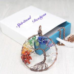 7 Chakras Tree of Life Necklace