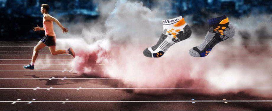 running sport socks white or black