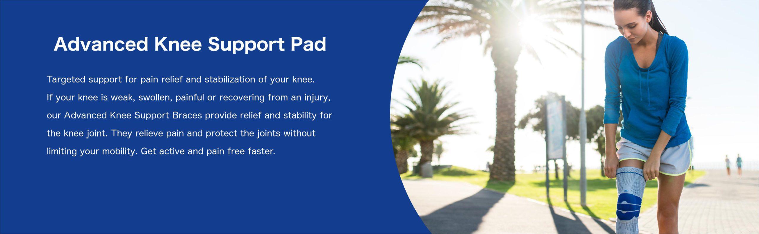 all activity advanced knee support brace description text