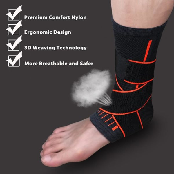 breathable air knit ankle brace