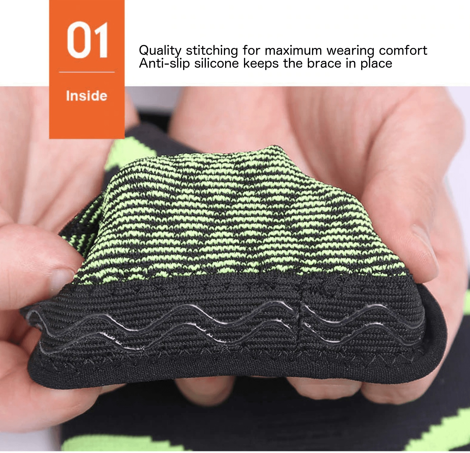 knitted elbow support. braces for sports