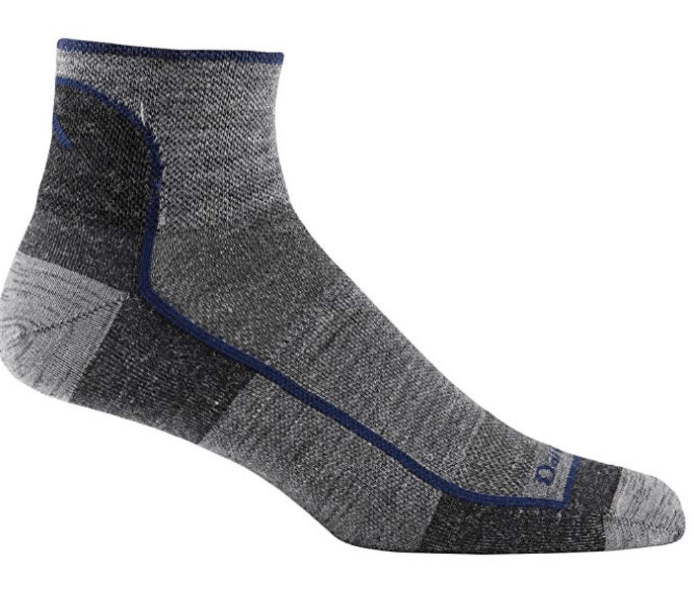 Darn Tough Vermont Men's 1/4 Merino Wool Ultra-Light Athletic Socks