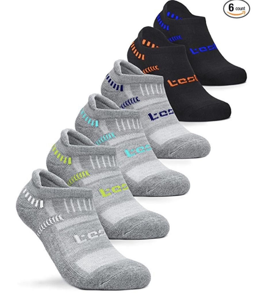 TSLA Men's 6-Pairs Athletic Sports Socks TM-MZS Series