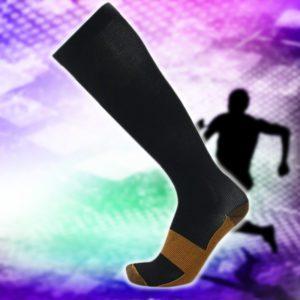 Copper Infusion Compression Socks Black