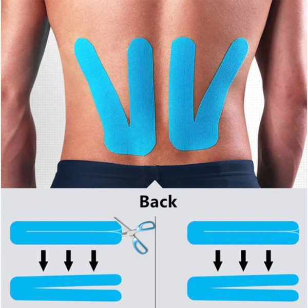 kinesiology tape muscles joint tendon support pain relief faster regeneration and healing