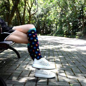 trendbaron colorful graduated compression socks blood circulation 20-30 mmhg