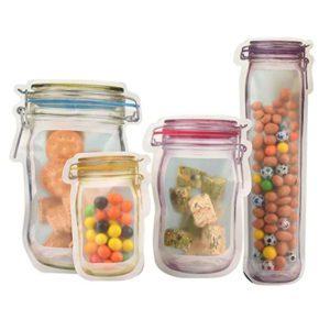 mason jar food storage zipper bag food saver reusable waterproof