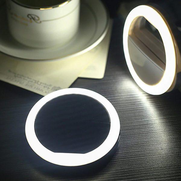perfekt selfie camera light ring lighting clip for phone tablet computer