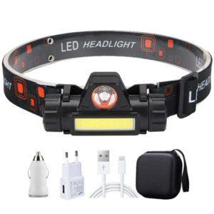 LED headlamp set headlights for camping hiking fishing running walking handsfree