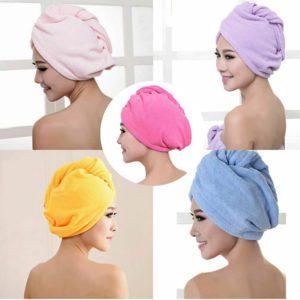trendbaron quick dry hair towel microfiber hair drying towel moisture absorbing easy wrap